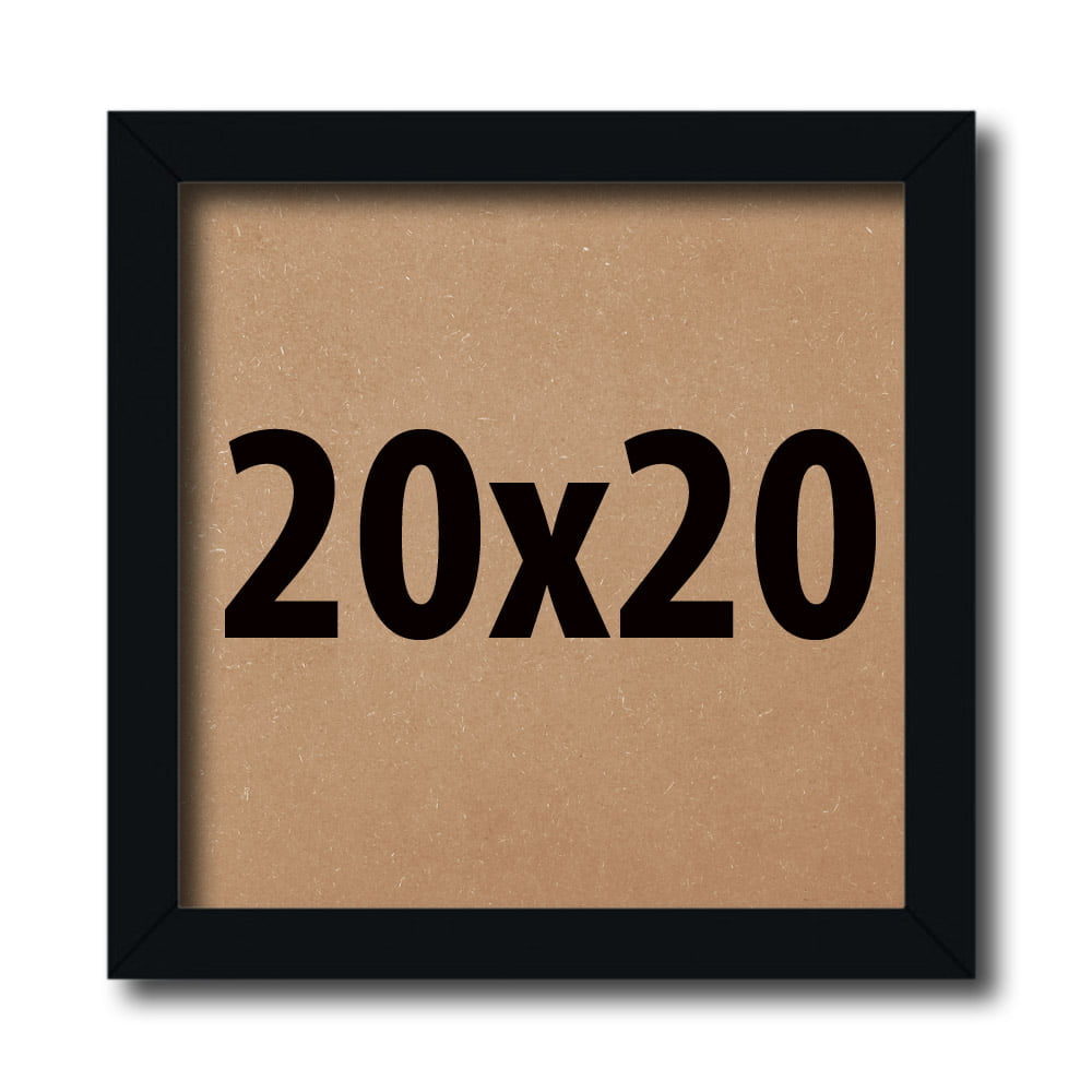 Kit 10 Moldura 20x20Cm Com Fundo e vidro
