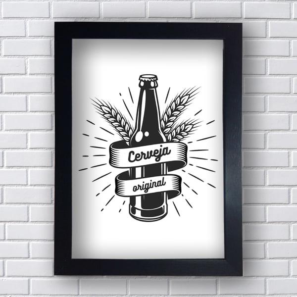 Placa Quadro Decorativa cerveja Original