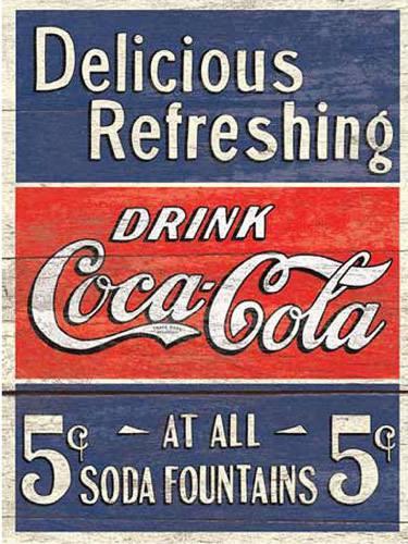 Placa Decorativa Retro Drink Coca Cola PDV065