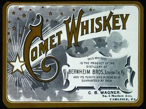 Placas Decorativas Bebidas Comet Whiskey PDV381