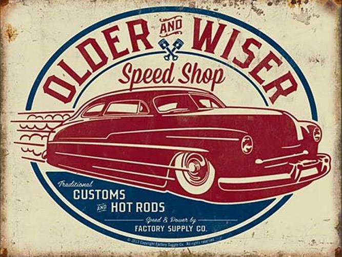 Placa Decorativa Vintage Carros Older Wiser PDV186