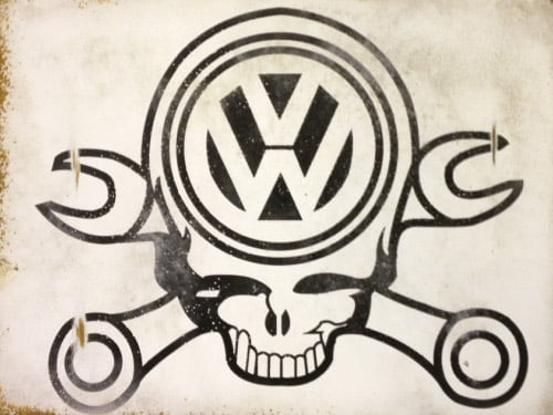 Placa Decorativa Vintage Carros Volks Parts PDV193
