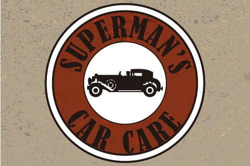 Placa Decorativa Vintage Carros Superman car care PDV224
