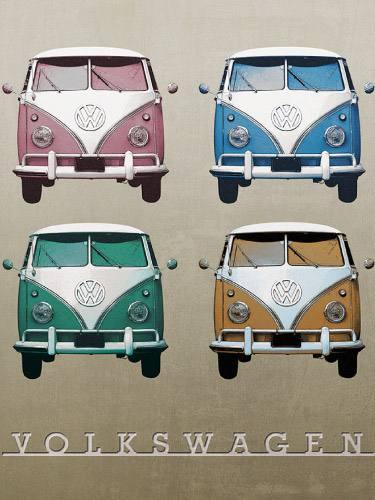 Placa Decorativa Vintage Carros Kombi Volks PDV191