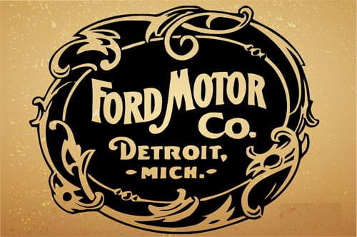 Placa Decorativa Vintage Retro Ford Motor CO PDV095