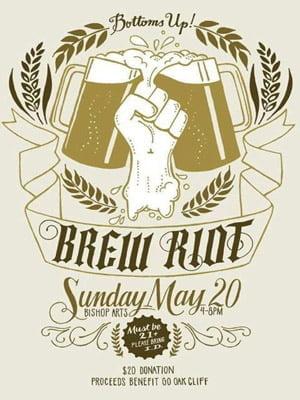 Placa Decorativa Brew Riot Beer Fest PDV263