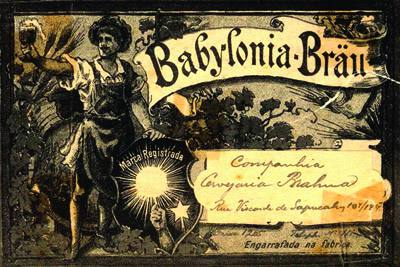 Placa Decorativa Brahma Babylonia Retro Vintage PDV262