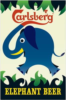 Placa Decorativa Carlsberg Elephant Beer PDV269