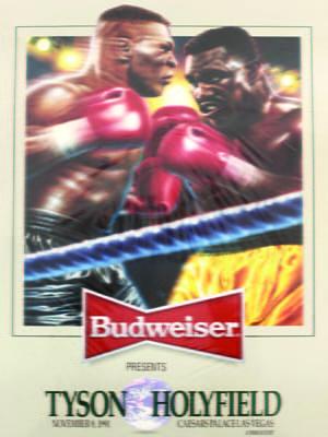 Placa Decorativa Budweiser Fight Tyson Holyfield PDV266