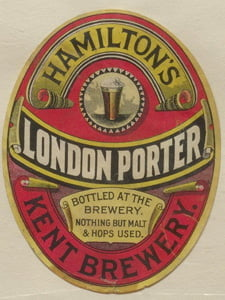 Placas Decorativas Cerveja Hamilton´s London Porter PDV326