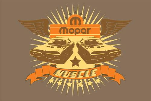 Placa Decorativa Vintage Retro Mopar Muscle PDV071