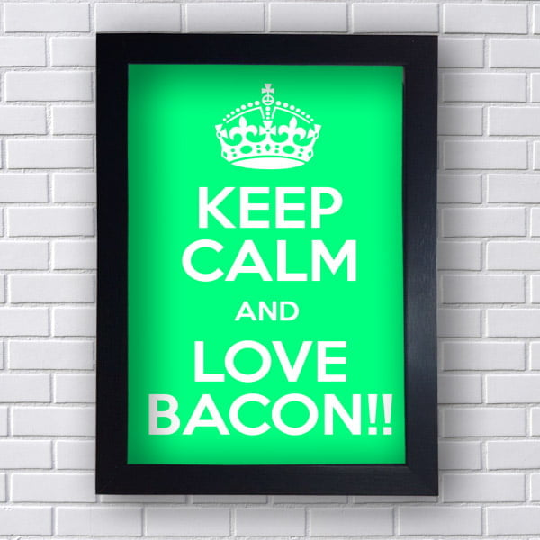 Placa Decorativa Love Bacon