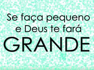 Placas Decorativas Frases Motivacionais Deus te fará grande PDV298