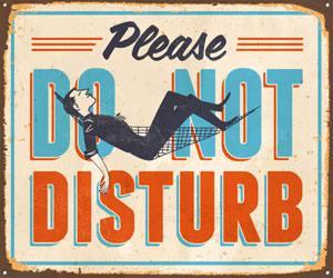 Placas Decorativas Frases Ingles Do Not Disturb PDV311