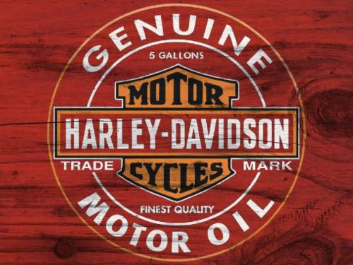 Placa Decorativa Vintage Retro Harley Oil Genuine PDV105
