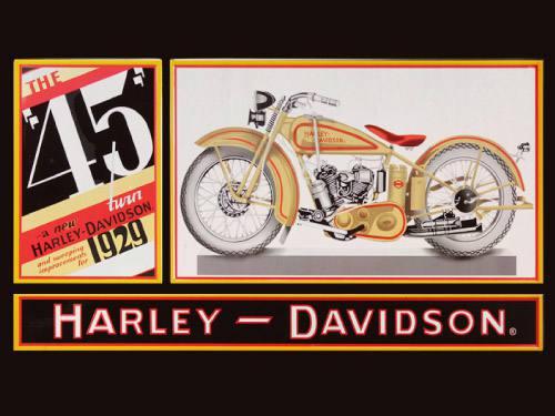 Placa Decorativa Vintage Retro Harley Davidson 45 PDV098