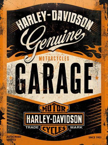 Placa Decorativa Vintage Retro Harley Davidson Garage PDV100