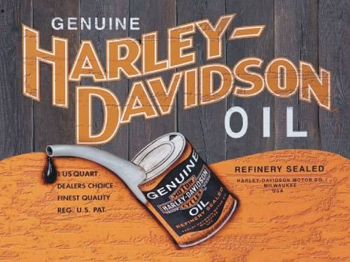 Placa Decorativa Vintage Retro Harley Oil Genuine PDV106