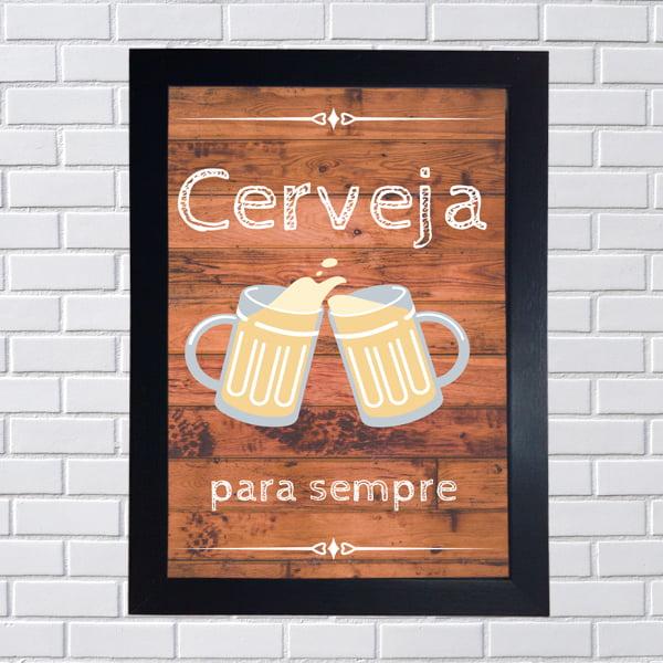 Placa Quadro Decorativa Cerveja para sempre