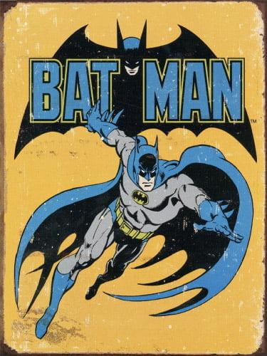 Placa Decorativa Vintage Retro Batman