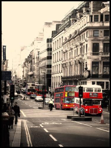 Placa Decorativa Vintage Retro London Bus PDV132