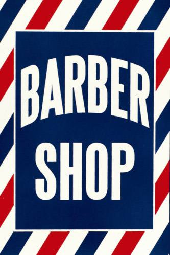 Placa Decorativa Vintage Retro Barber Shop PDV156