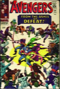Placas Decorativas Avengers Comics Retro PDV427