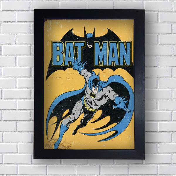 Quadro Decorativo Batman Retro