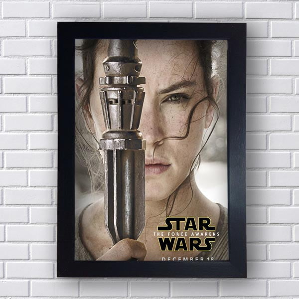 Quadro Decorativo Star Wars Rey