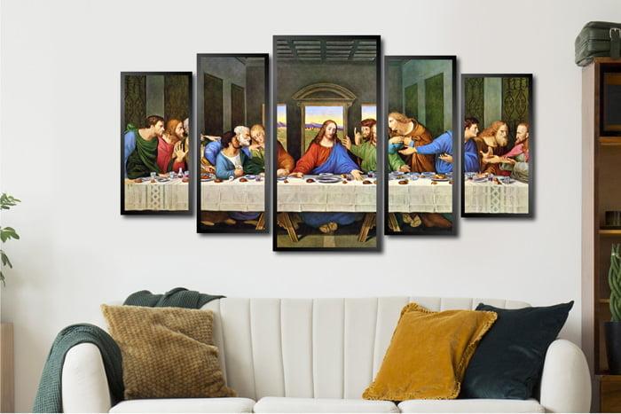 Conjunto Quadros Santa ceia