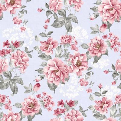Papel de Parede Estampa de flores rosas