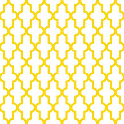 Papel de Parede Geometrico Formas Amarelo