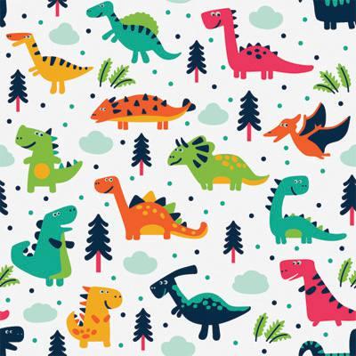 Papel de Parede para quarto infantil dinossauros