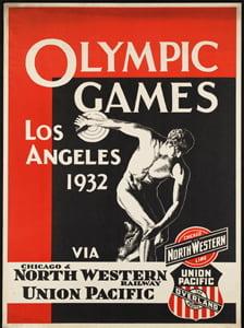 Placa Decorativa Poster Olimpiadas Los Angeles 1932 PDV549