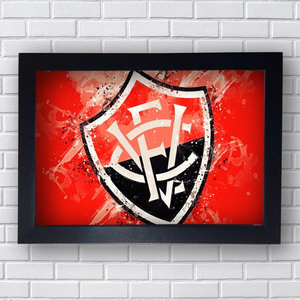 PLACA QUADRO DECORATIVO VITORIA FC