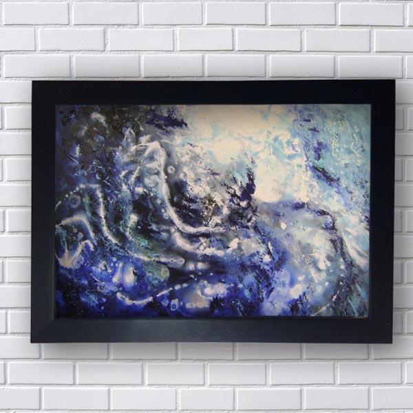 Quadros Abstratos Tons de Azul