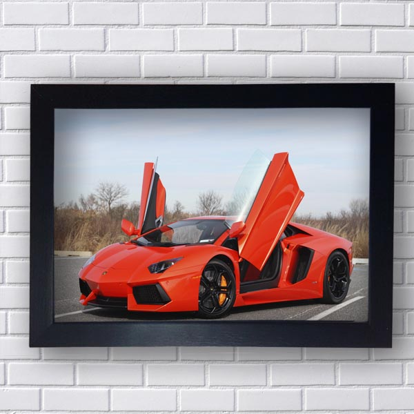 Quadro Lamborghini Vermelho