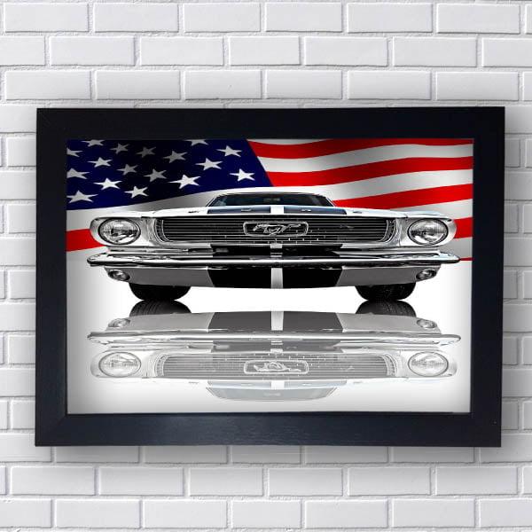 Quadro Vintage Mustang USA