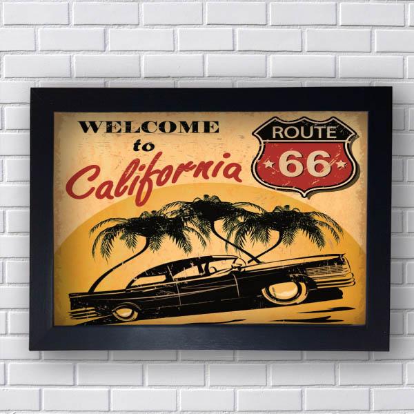 Quadro Vintage Welcome California