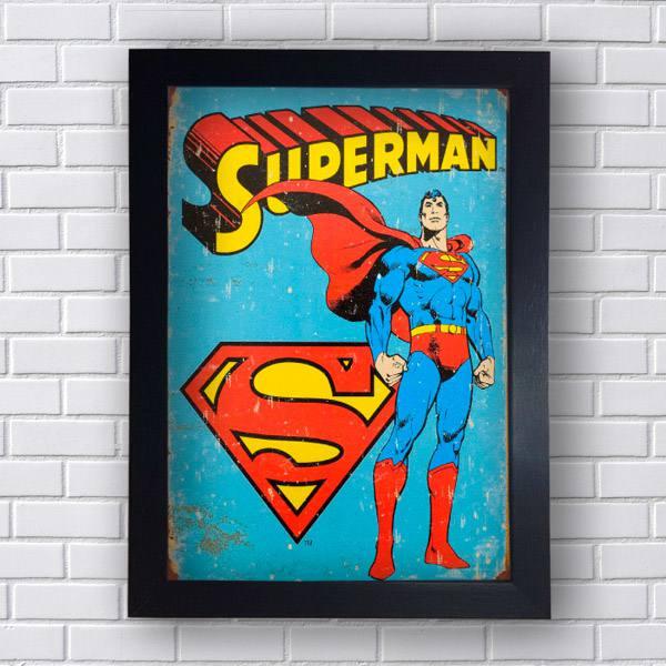 Quadro Super Man Retro