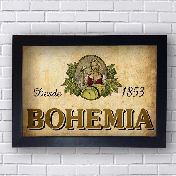 Quadro Bohemia Cerveja Vintage