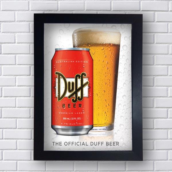 Quadro Vintage Duff Retro