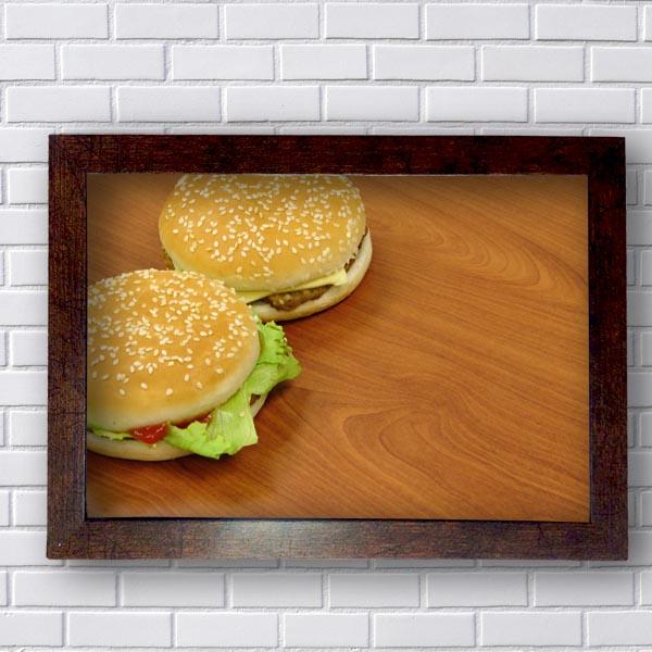 Quadro Cozinha Hamburger