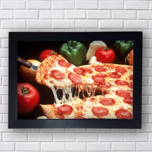 Quadro Decorativo Para Restaurante Pizza