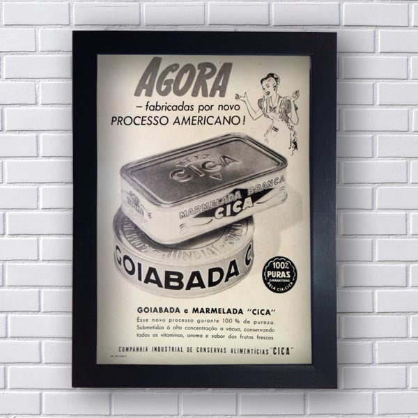 Quadro Vintage Goiabada e Marmelada
