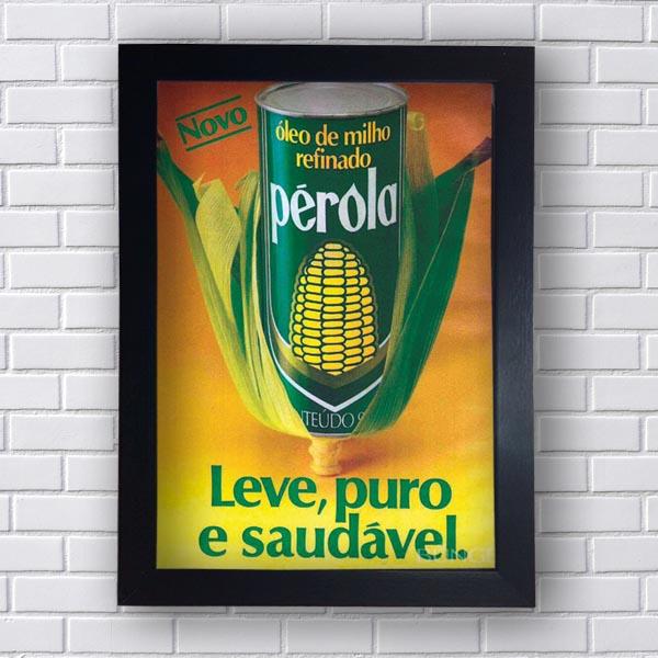 Quadro Vintage Oleo Perola