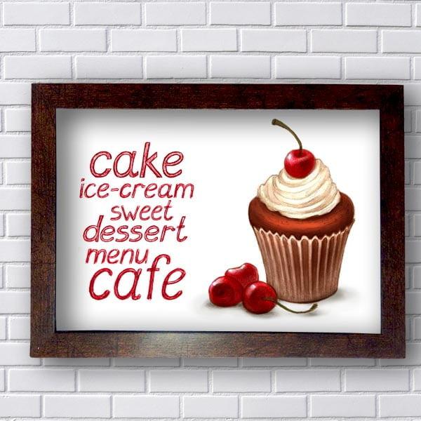 Quadros Decorativos Cozinha Cake