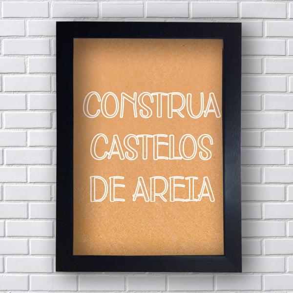 Quadro  Decorativo Castelos de Areia