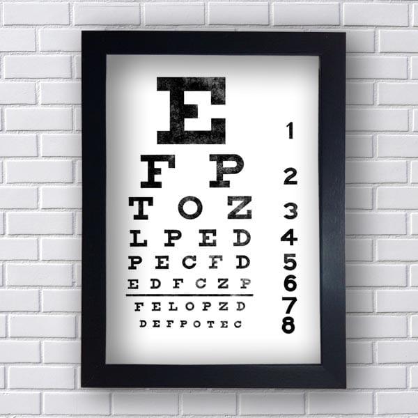 Quadro Teste de Visão