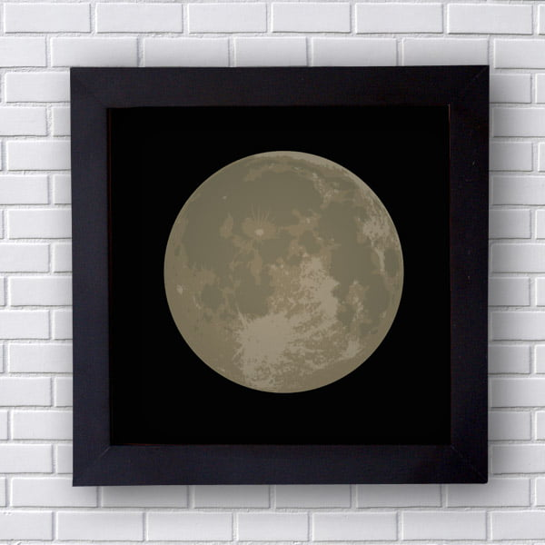 Quadro Decorativo Lua Cheia